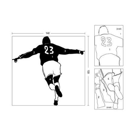 Coart Muursticker Voetballer Beckham