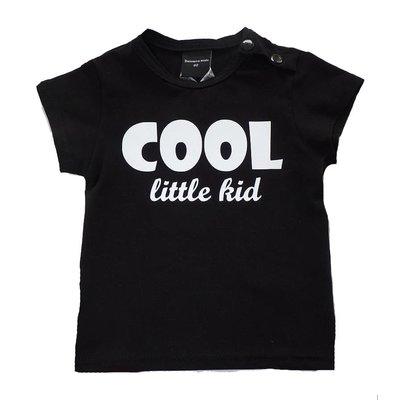 Roos & Tijn Design shirt Cool Little Kid black