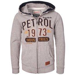 Petrol Industries sweatvest grey met stoere emblemen