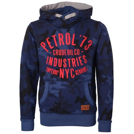 Petrol Industries hooded sweat army blue