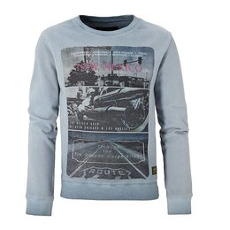 Cars Jeans sweater Route 66 washed blue