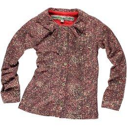 Moodstreet stretch blouse roze luipaard print