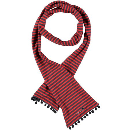 Bampidano sjaaltje red grey stripe