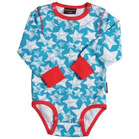 Maxomorra bodysuit Stars Turquoise