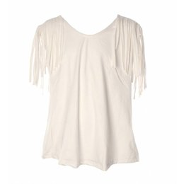 Be A Diva fringe Ibiza top Alexy white