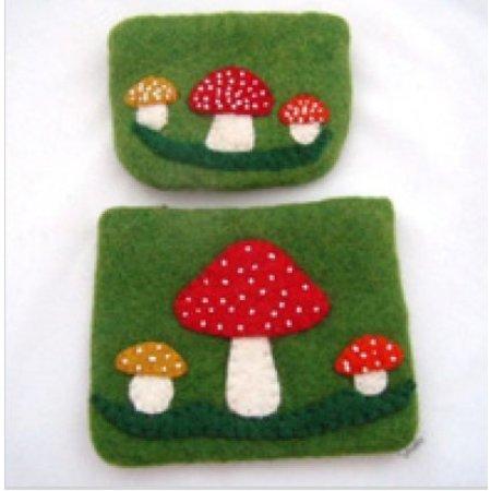 Cute Factory fairtrade portemonnee paddenstoel