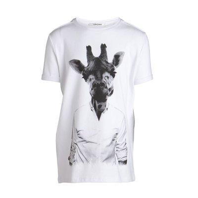 Little Pieces superstretch shirt met Giraf print
