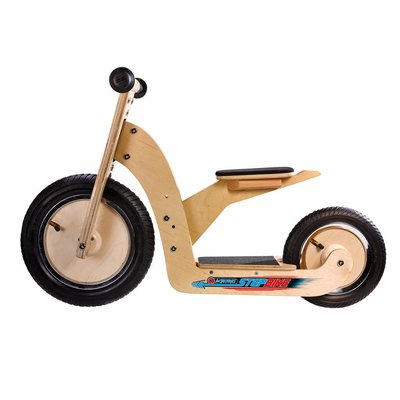 Simply Acrobat houten StepBike 2-in-1