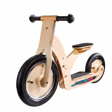 Simply Acrobat houten StepBike 2-in-1