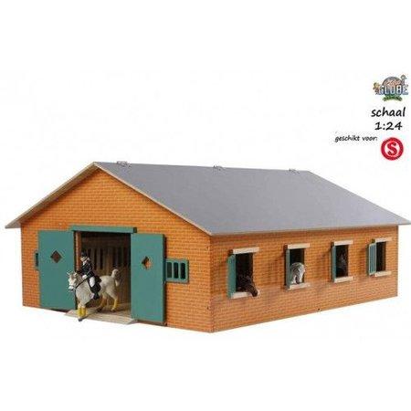 Kids Globe Houten Paarden stal met 7 boxen