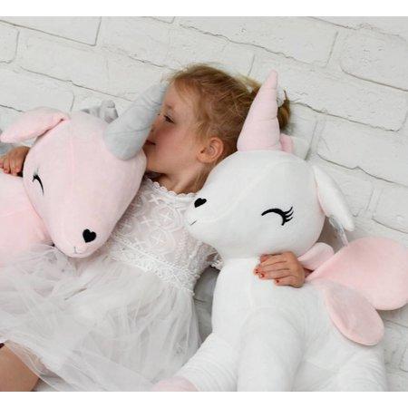 MeToo Metoo Unicorn Eenhoorn knuffel XXL roze 60 cm