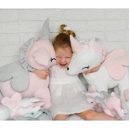 MeToo Metoo Unicorn Eenhoorn knuffel XXL roze 60cm