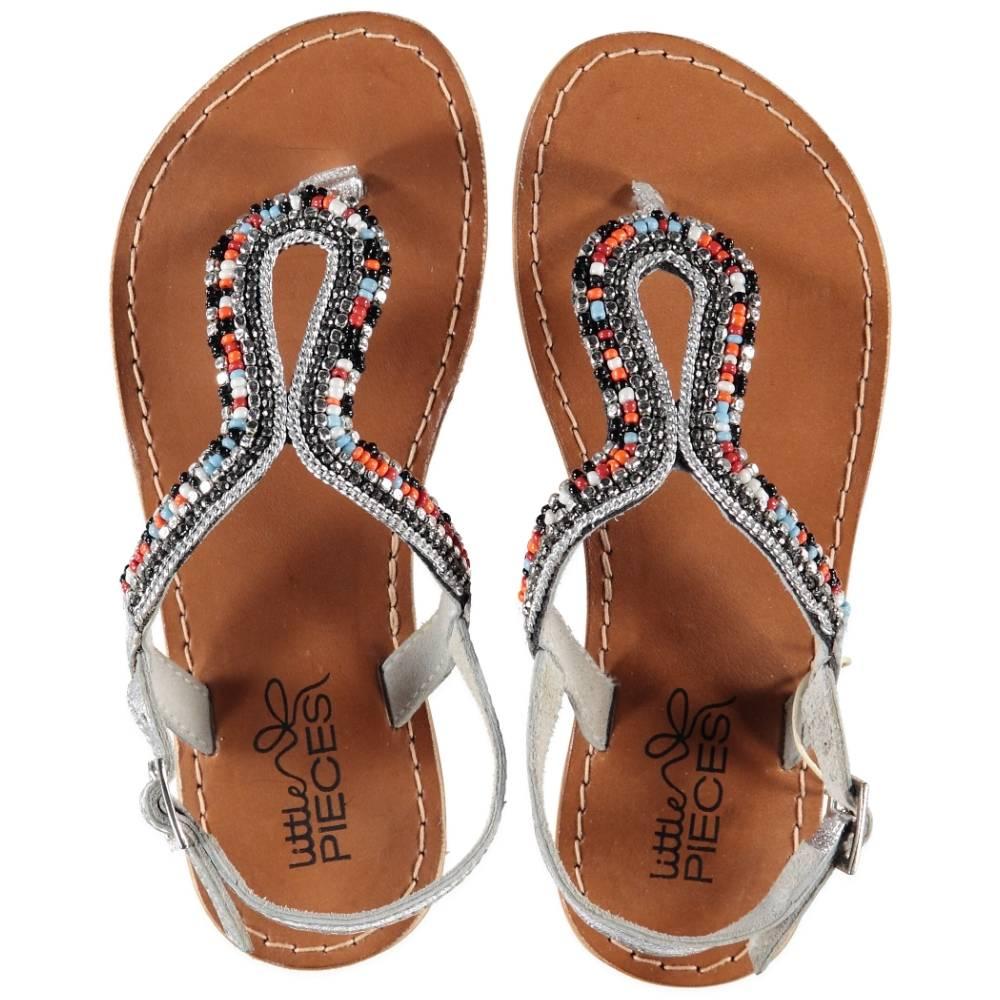 Verrassend lederen sandalen Ibiza multicolor kraaltjes - Roos & Tijn GK-48