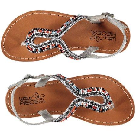 Little Pieces lederen sandalen Ibiza  multicolor kraaltjes