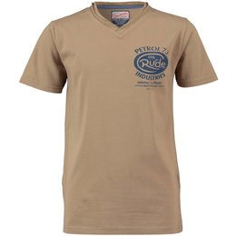 Petrol Industries V-shirt Cottage taupe green