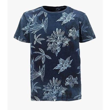 Petrol Industries shirt vintage denim blue flowers