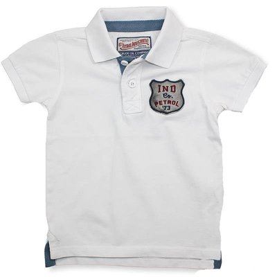 Petrol Industries kinder polo shirt wit
