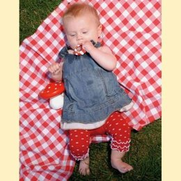 Bonnie Doon legging rood met witte stippen