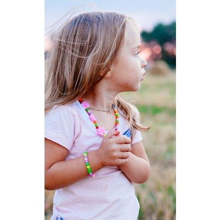 ToyToy Kinderketting + armband  bolletjes