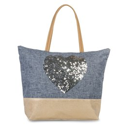 Fabrizio Canvas Shopper met Pailletten Hart