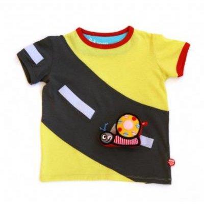 BeeeTU (speep-) shirt Yellow Highway - incl. speelgoed