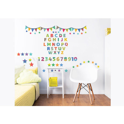 Walltastic Muursticker set ABC -76 delig