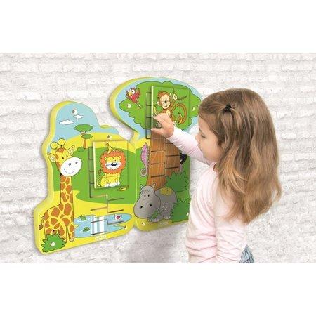 Beleduc Wandspeelgoed Jungle Schuif Puzzel Aap