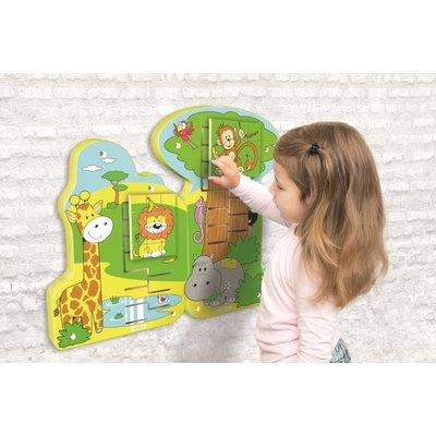 Beleduc Wandspeelgoed Jungle Schuif Puzzel  Leeuw