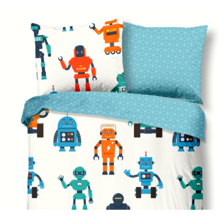 Good Morning  Kinder dekbedovertrek Robots