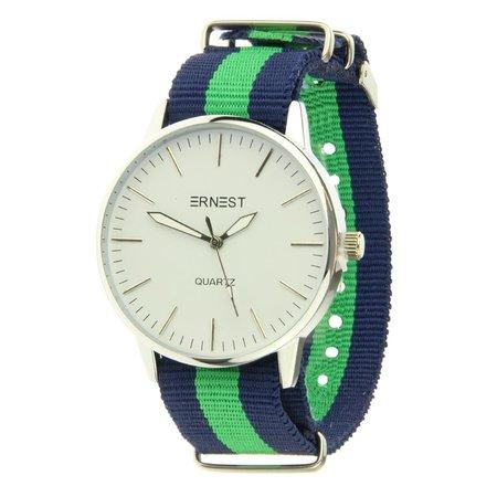 Ernest Unisex quartz horloge Danton groen blauw