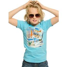 Funky XS babyshirt Surf dude aqua -