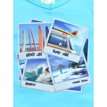 Funky XS shirt Surf dude aqua