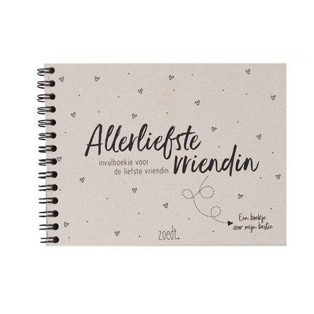 Zoedt Invulboekje voor de Allerliefste Vriendin