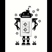 ToyToy Muursticker voor  stopcontact Robot
