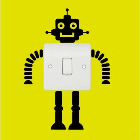 ToyToy Muursticker voor stopcontact Robot  2