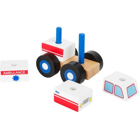 Small Foot Design Houten Ambulance Auto bouwblokken