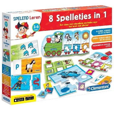 Clementoni 8 educatieve spelletjes in 1
