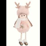 ToyToy Kerst Engeltje Pluche roze /goud