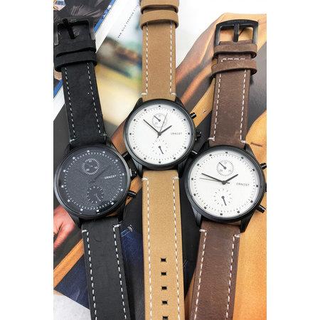 Ernest Heren horloge Benck donkerbruin