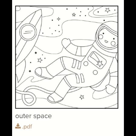 Gratis kleurplaat astronaut
