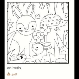 Gratis kleurplaat dieren