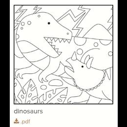 Gratis kleurplaat Dino