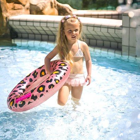 The Essentials  Rosé Gouden Panterprint Zwemband Volwassenen
