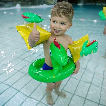 The Essentials Stoere dino zwemband opblaasbaar