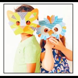Petit Collage GRATIS  knutselpakket: maskers maken