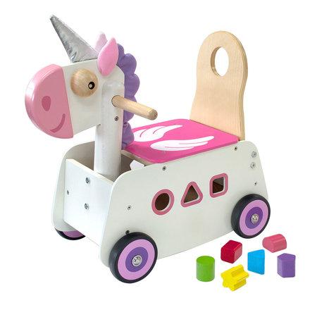 I'm Toy Loop-en Duwwagen wit/roze Unicorn eenhoorn