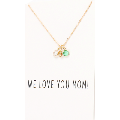 Love You Mom ketting goud