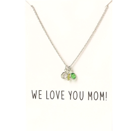 Love You Mom ketting zilver