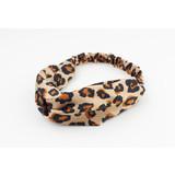 Rafa Haarband Leopard brown satijn