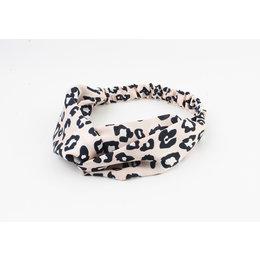 Rafa Haarband Leopard roze satijn